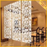 Dekorasi penyekat ruangan pembatas ruang vintage unik bahan PVC (1set