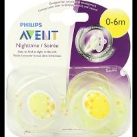BERKUALITAS Empeng Bayi Avent Night Time Orthodontic Pacifier 0-6m ISI