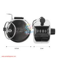 Hand Counter Alat Hitung Cepat Zikir Manual Besi 4 Digits JOYKO HC-4D