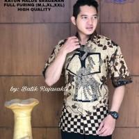 Wewayang Kemeja Batik Solo Lengan Pendek Full Furing By RajaSakti