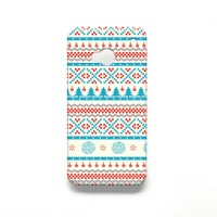 Aztec Snowflakes Winter HTC One M7 Hard Case Cover