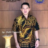 Manuk Raja Kemeja Batik Solo Lengan Pendek Full Furing By RajaSakti - M