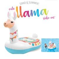 Pelampung Ban Renang Model LLama Ride On Floaties