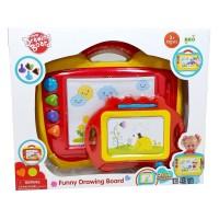 Mainan Edikasi Anak Funny Drawing Board 2 in 1 Papan Tulis Magnet