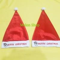 Topi Natal Topi Santa Claus Dewasa Tebal Halus