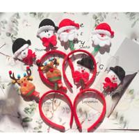 Bando Natal Lucu Santa Snowman Rudolph LED GH 505503