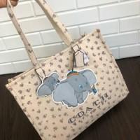 Coach dumbo medium tote bag / coach dumbo canvas tote bag / coach bag