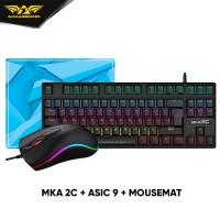 Armaggeddon MKA-2C Mechanical Gaming Keyboard +Asic 9 RGB Gaming Mouse