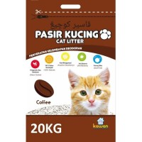 GOJEK ONLY- Pasir Kucing KAWAN 20Kg Cat Litter Bentonite Gumpal Wangi - Apple