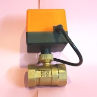 "🔴🔄1"" DN25 220V Motorized Brass Ball Valve For Smart Home Water"