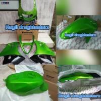 full fairing full cover body ninja rr old hijau metalik original