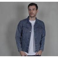 Jaket Jeans Denim Pria Cowok Casual - Miles&co Original Warna Biru Tua