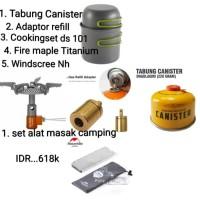 satu set alat masak camping ultralight outdoor