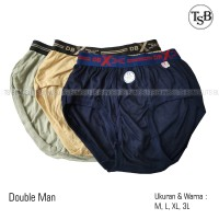 (12pcs) Grosir Celana Dalam Double Man   CD Pria