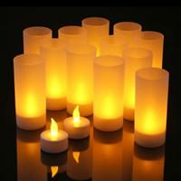 LIN-02 Lilin LED GELAS Elektrik Baterai /Smokeless Candle LED + Gelas