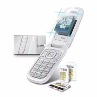 Samsung lipat flip Caramel GT-E1272 Samsung Hp Murah Handphone NEW - Putih