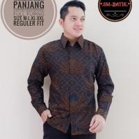 Kemeja Batik Pria Lengan Panjang Size M L XL XXL Premium Original Solo