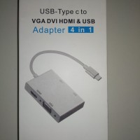 Converter USB - Type C To VGA DVI HDMI & USB Adapter For Apple MacBook