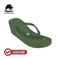 Fipper Wedges / Sandal Wanita / Green Army