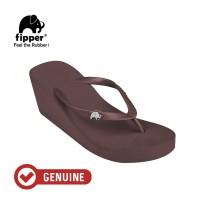 Fipper Wedges / Sandal Wanita / Brown Havana