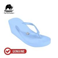 Fipper Wedges / Sandal Wanita / Blue Echo