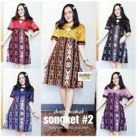 Couple Batik Songket Kemeja dan Tunik Batik Songket