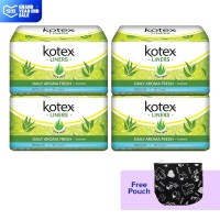 Buy 4 Kotex Liners Aloe Vera 20s get Free Pouch