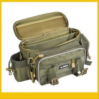 Perlengkapan Pancing Tas Multifungsi Warna Hijau Army Bahan Kain