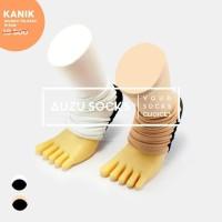 Kaos Kaki Kanik Wudhu Telapak - Umrah Haji Travelling - Hitam Cream