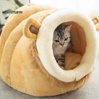 Baru WT Tempat Tidur Anjing / Kucing Bentuk Singa Bahan Plush Hangat