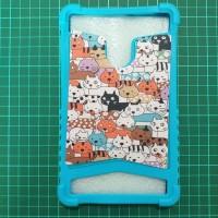 Case Advan i7A 7inch Casing Tab Advan Karakter Gambar Kucing Cats