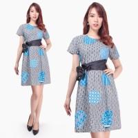 Dress Midi Erupa Short Dress Batik Wanita