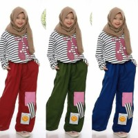 Set Kulot Kid Five M/Setelan Baju Muslim Anak 7 8 9 Tahun/Fashion Anak