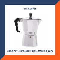 Mokapot Espresso Coffee Maker Moka Pot 2 Cups