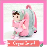 Tas Ransel Backpack Sekolah Anak Paud Boneka Karakter Angela Koala