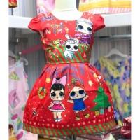 Dress Anak perempuan LOL Xmas Red Kids (082032)