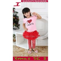 Setelan Anak Perempuan Love Santa (140690)