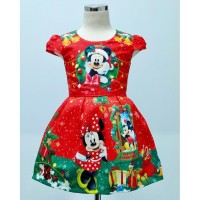 Dress Anak Christmas Minnie Merah Teen (082050)