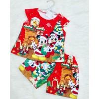 Setelan Anak Perempuan Mickey Minnie Natal (082053)