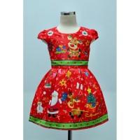 Dress Anak Natal Merah Rusa (082061)