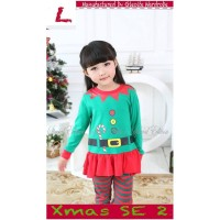 Setelan Anak Perempuan Natal/Christmas hijau (140692)