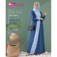 Baju Gamis Dewasa Nibras NB A34 Maroon/Moonlight Blue/Tropical Blue