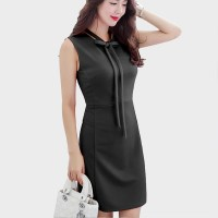 Midi Body fit Dress pesta tanpa Lengan gaya korea - Jfashion Suzu