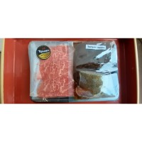 Daging WAGYU Shabu Shabu TOKUSEN 180gr dengan saus 150gr