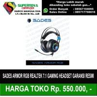 Sades Armor RGB Realtek 7.1 Gaming Headset Garansi Resmi - Hitam