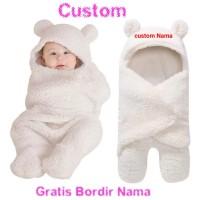 selimut bayi custom nama selimut baby newborn gratis bordir nama