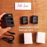 baterai batre dual cas charger kamera Nikon en el14 d3100 d3200 d3300