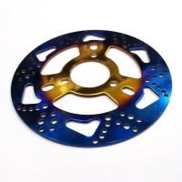 Piringan Disc Cakram Coak Tapak Kaki 2 Tone Mio J Soul GT - Blue Gold