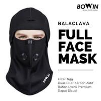 Bowin Balaclava Full Face - Filter N99CV (Masker Motor - Ninja)