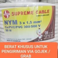 KABEL SUPREME NYM 3x1,5 mm 50meter GOJEK ONLY 3x1,5 3 x 1.5